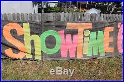Large Vintage 1963 Chevrolet Chevy Car Dealership Gas Oil 168 Banner Sign