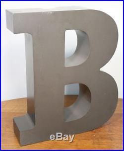 Large Vintage Letter B Sign. Metal Construction Neon. Car Dealer Salvage