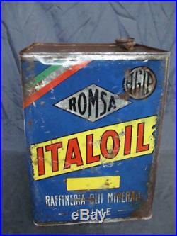 Latta Italoil Agip raffineria oli minerali Fiume vintage per auto Fiat Lancia