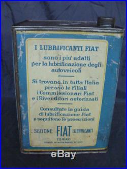 Latta Olio Fiat Torino old vintage per auto Fiat 2800 500 C Balilla