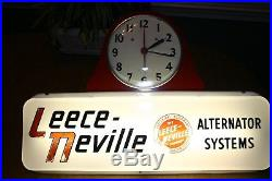 Leece-neville Vintage Auto Service Garage Advertising Clock