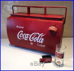 Metal Coca Cola Coke Drinks Cooler 50s CLASSIC CAR VW Split screen Vintage