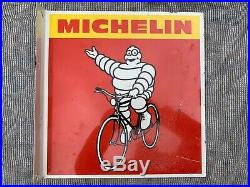 Michelin cycle tyre Vintage sign, Automobilia, double sided flange sign, velo