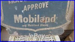 Mobiloil Mobiland sign. Vintage sign. NTO enamel sign. Esso. BP. Castrol. Tractor