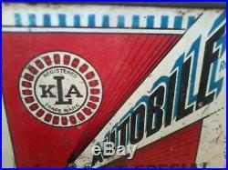Motor Oil Can Vintage Kla Autobile