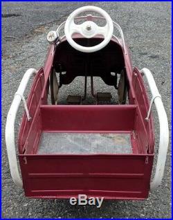 Murray Jet Flow Drive Station Wagon Pedal Car Truck Garage Advertising Sign VTG