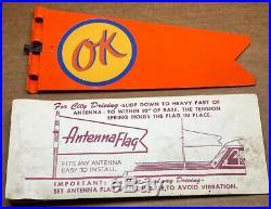 NOS. OK Gasoline Oil Automobile VINTAGE CAR ANTENNA FLAG NEW ORIGINAL