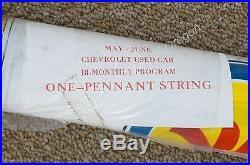 NOS Vintage OK Used Car Participating Dealer Pennant String Banner Flag Sign