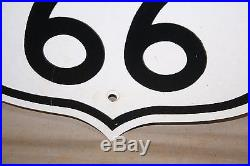 Original Vintage Illinois Us Route 66 Metal Sign Farm Seed Car 66 Hwy