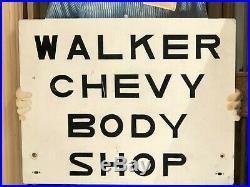 ORIGINAL Vintage MR GOODWRENCH Stand-Up Sign GM Chevrolet SST Car Gas Oil OLD