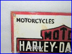 Old Rare Vintage Harley Davidson Motor Cycles Ad Porcelain Enamel Sign Board