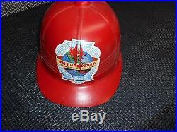 Old Vtg 1950 SOAP BOX DERBY CRASH HELMET Chevrolet Advertising Sponsor Hard Hat