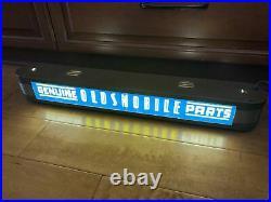 Oldsmobile Genuine Parts Lighted Sign Dealership Vintage Signs