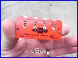 Original 1940s nos GM Chevrolet Accessory next Oil visor Vintage auto Reminder