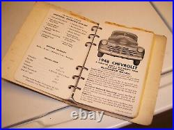 Original 1946-53 model years OK USED CARS chevy vintage guide book auto part old