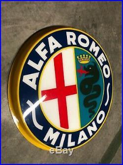 Original ALFA ROMEO MILANO Sign Service Vintage 1950s Dealership Perspex MINT