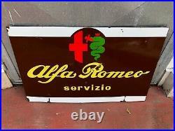 Original ALFA ROMEO Porcelain Sign Service Vintage 1950's Dealership Enamel RARE