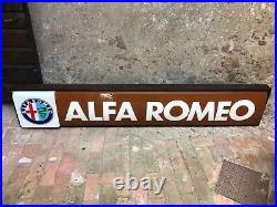 Original ALFA ROMEO Sign Service NOS Vintage 1970's Dealership HUGE Neon Lighted