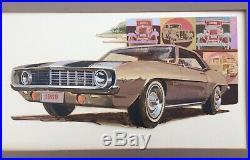 Original Advertising Art Camaro Z 28 1969 Automobile Car Chevrolet Vintage