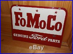 Original FoMoCo Tin Sign, Vintage Ford Tin Sign, Car Dealer Signs, Car Parts