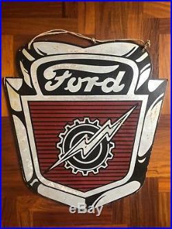 Original Ford Lightning Bolt SIGN 1950s vintage F-100 F-500 Genuine Pickup