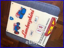 Original LAMBORGHINI Calendar Sign 1960s Vintage ULTRA RARE NOS Miura Countach