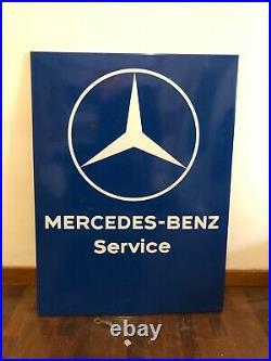 Original MERCEDES BENZ Porcelain Sign SERVICE Vintage 1960s Dealer Enamel SL SSK