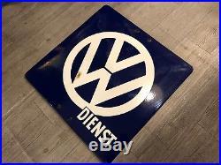 Original VW Enamel Sign Dienst Porcelain Service Dealership Vintage VOLKSWAGEN