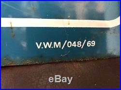 Original VW Enamel Sign Porcelain Service Dealership Vintage VOLKSWAGEN 1960s