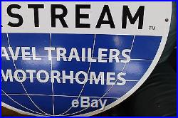 Original Vintage Airstream Travel Trailers and Motorhomes Dealer Porcelain Sign