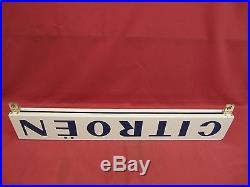 Original Vintage Citroen Porcelain Dealership Sign Two Sided