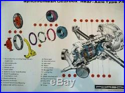 Original Vintage Factory Porsche Poster 356 Transmission Cutaway