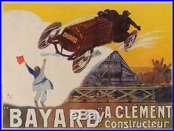 Original Vintage French Advertising Poster for Bayard Car by Weiluc 1918