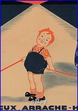 Original Vintage French Poster Advertising Eric Samson Car Jack ca. 1920