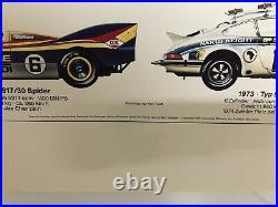 Original Vintage Porsche Poster Race Car History 1977
