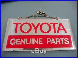 Original Vintage Toyota Genuine Parts Dealers Mirror. Made In Japan