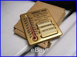 Original vintage 50's Studebaker Visor Service auto Thermometer accessory promo