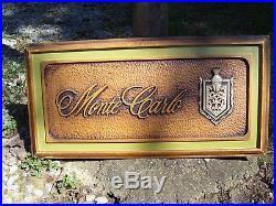 Original vintage 70' s GM Chevy Monte Carlo dealer windshield display auto promo