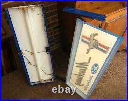 Original vintage Ford Mustang Dealership sign