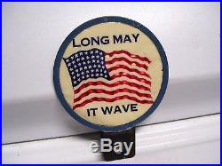 Original vintage nos 40s WW2 Flag star wave license plate topper gm auto parts