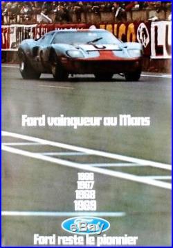 Original vintage poster FORD F40 LE MANS 24H WINNER 1969