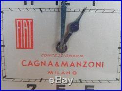 Orologio Epoca Fiat Cagna E Manzoni Milano Vintage Clock