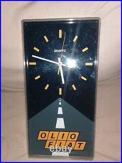 Orologio Parete Olio Fiat Pubblicità Epoca Oliofiat Vintage'70'80 Modernariato