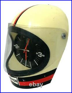 Orologio da officina candele champion spark plug 1960 vintage a forma di casco