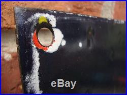 POWER PETROL enamel sign large vitreous porcelain vintage race car VAC221