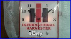 Pam Lighted Advertising Wall Clock International Harvester Vintage Rare GC