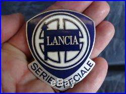 Placca emblema Lancia Serie Speciale Delta Fulvia old vintage italy