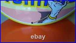 Plaque Emaillee hutchinson bombe édition limitée garage motos oil vintage