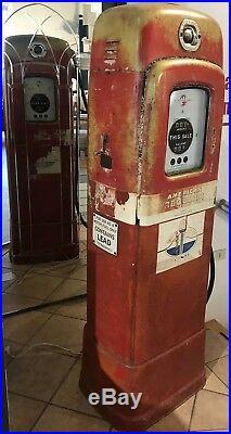 Pompa Distributore Benzina Wayne 80 Martin Anni 50 Vintage Conservato