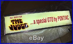 Pontiac GTO Lighted Sign / Vintage Original 1969